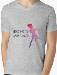 Take Me To Neverland  Mens V-Neck T-Shirt