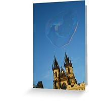 Soap bubble in Prague Greeting Card