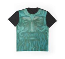 Green Man, pastel painting, fantasy art, green shades Graphic T-Shirt