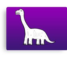 Cartoon Brachiosaurus Canvas Print