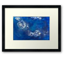 Blue Water Jelly 2 Framed Print