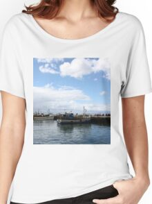 Boats at Harbour Women's Relaxed Fit T-Shirt