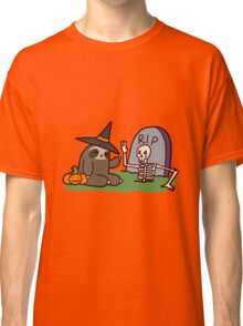 Sloth and Spooky Skeleton Classic T-Shirt