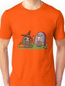 Sloth and Spooky Skeleton Unisex T-Shirt