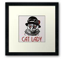 Cat Lady Framed Print
