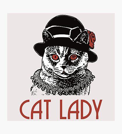 Cat Lady Photographic Print