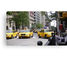 New York 5th Ave Yellow Cabs Canvas Print