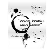 Hemingway Writer's Quote Poster