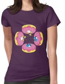 Funny Donuts Womens Fitted T-Shirt