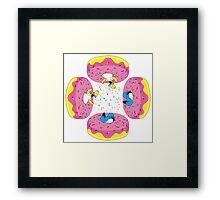 Funny Donuts Framed Print