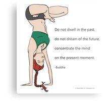 Yoga Handstand Metal Print