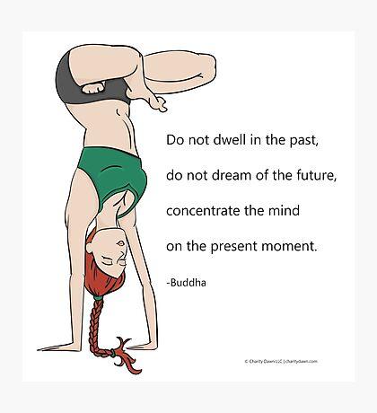 Yoga Handstand Photographic Print