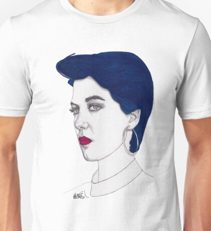 Girl with Blue Hair Unisex T-Shirt