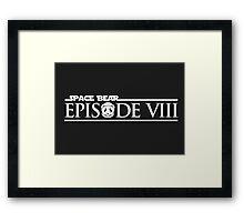 Star Wars Episode VIII 8 Space Bear - White Framed Print