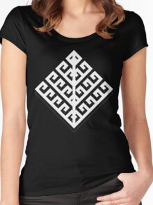 Yggdrasil White Shadow Women's Fitted Scoop T-Shirt
