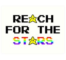 """Reach For The Stars"" 8 Bit Parody Art Print"