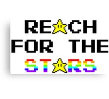 """Reach For The Stars"" 8 Bit Parody Canvas Print"