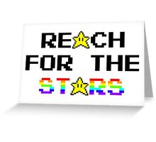 """Reach For The Stars"" 8 Bit Parody Greeting Card"