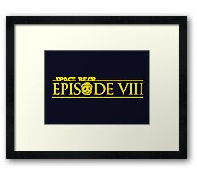 Star Wars Episode VIII 8 Space Bear - Yellow Framed Print