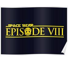 Star Wars Episode VIII 8 Space Bear - Yellow Poster