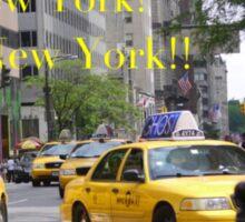 New York! New York!! Sticker