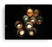 Small lights in glasses Canvas Print