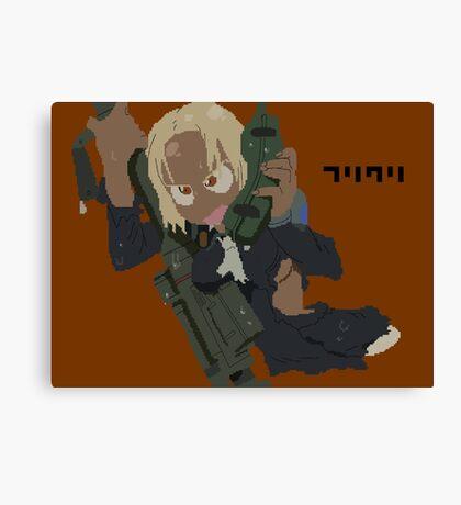 FLCL Kitsurubame pixelart Canvas Print