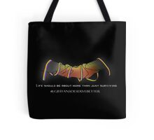 Rainbow Ribbon Clasp (Dark) Tote Bag