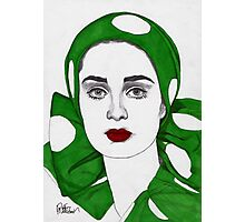 Girl in Green Photographic Print