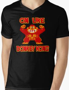 On Like Donkey Kong Mens V-Neck T-Shirt