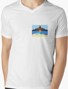 Kauai/STN MTN Cover Design Mens V-Neck T-Shirt
