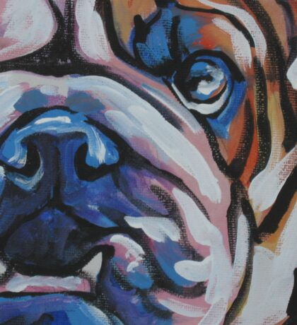 English BullDog Bright colorful pop dog art Sticker