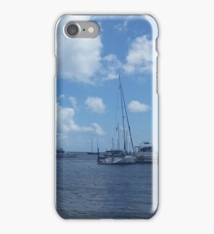 Boats at St. Croix Pier iPhone Case/Skin