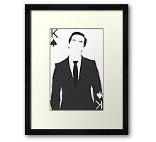 Minimalist Jim Moriarty - King of Spades Framed Print