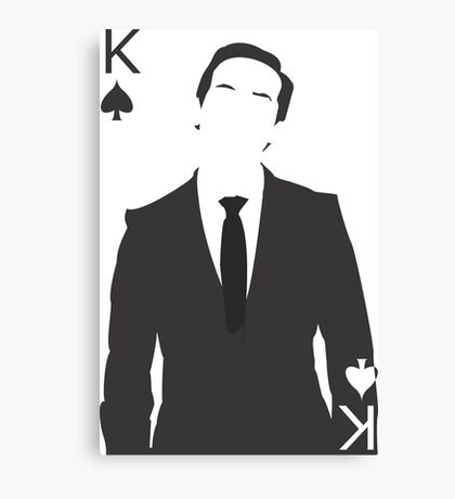 Minimalist Jim Moriarty - King of Spades Canvas Print