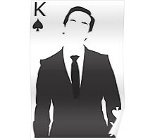 Minimalist Jim Moriarty - King of Spades Poster