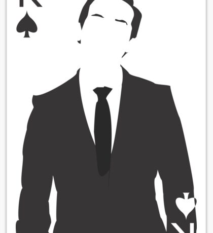 Minimalist Jim Moriarty - King of Spades Sticker