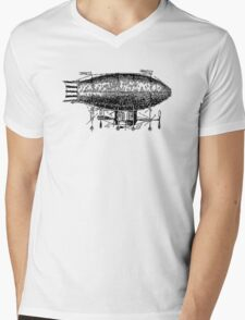 Steampunk Propeller Balloon Mens V-Neck T-Shirt