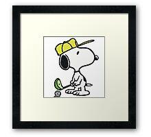 Snoopy Golf Framed Print