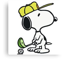 Snoopy Golf Canvas Print