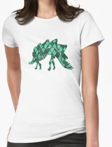 Stegosaurus Womens Fitted T-Shirt