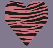 0365 Light Coral Tiger Kids Tee