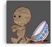 Spaghetti Mummy Canvas Print