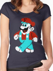 Bootleg Mario Women's Fitted Scoop T-Shirt