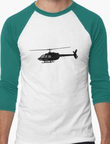 Urban Chopper Helicopter Silhouette Men's Baseball ¾ T-Shirt