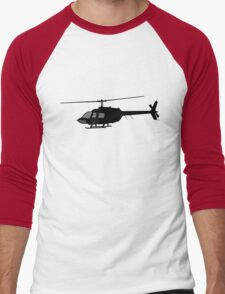 Urban Chopper Helicopter Silhouette Men's Baseball ¾ T-Shirt