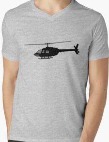 Urban Chopper Helicopter Silhouette Mens V-Neck T-Shirt
