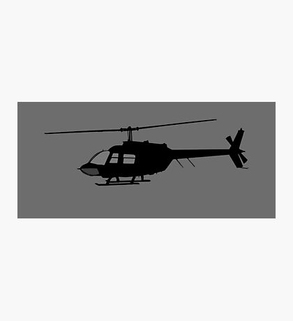 Urban Chopper Helicopter Silhouette Photographic Print
