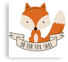 fox sake Canvas Print