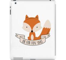 fox sake iPad Case/Skin